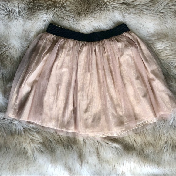 Decree Dresses & Skirts - DECREE ROSE GOLD TULLE DOUBLE LAYER SKIRT SIZE M